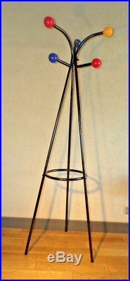 Vintage-porte Manteau Perroquet 6 Boule Couleur-design 50-60-70-dlg Feraud