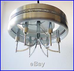 Vintage suspensions lustre métal alu des années 70 design 1970 raak spoutnik