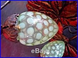 WAS BENSON Rare lustre d'époque art nouveau vaseline glass-guimard-majorelle