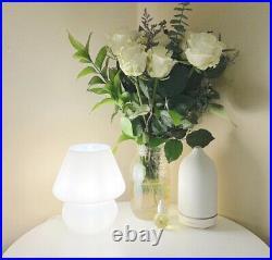 White Mini Mushroom Lamp Glass Lampe Champignon Blanche