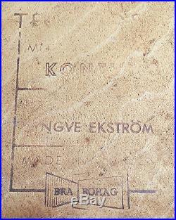 Yngve EKSTROM Suite de 4 CHAISES Tek KONTIKI pour TROEDS Scandinave 1960's skai